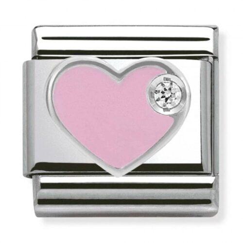 Silvershine Pink Love Heart Charm Stanley Hunt Jewellers - 330305/02