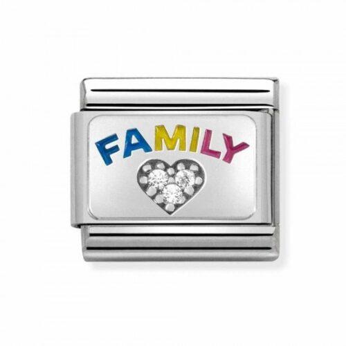 Silvershine Family Zirconia Heart Charm Stanley Hunt Jewellers - 330306/08