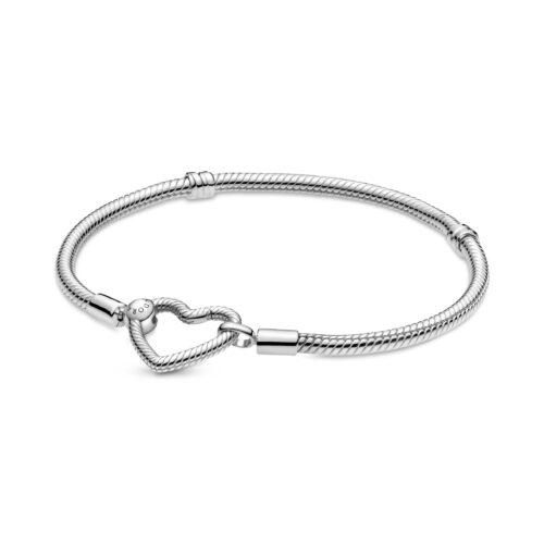 PANDORA MOMENTS Heart Closure Snake Chain Charm Bracelet - 599539C00