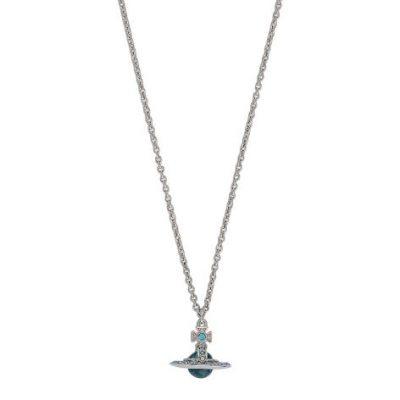 Vivienne Westwood Claretta Blue & Silver-Tone Necklace Stanley Hunt Jewellers - 63020274-02W349-CN