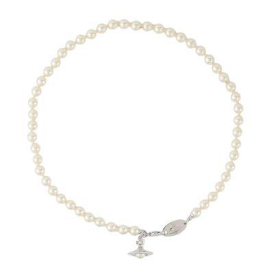 Silver Tone Pearl Simonetta Necklace Stanley Hunt Jewellers - 63010085-02W360-CN