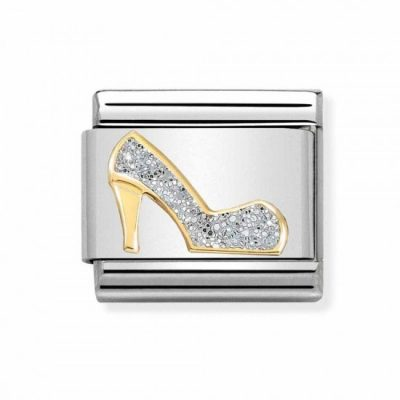 Yellow Gold Glitter High Heel Shoe Charm Stanley Hunt Jewellers - 030220/04