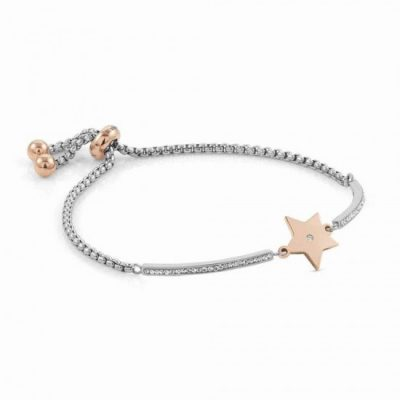Milleluci Rose Gold Finish Star Toggle Pavé Half Bangle Stanley Hunt Jewellers 028004/023