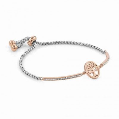 Milleluci Rose Gold Finish Pavé Tree of Life Toggle Half Bangle Stanley Hunt Jewellers 028005/017