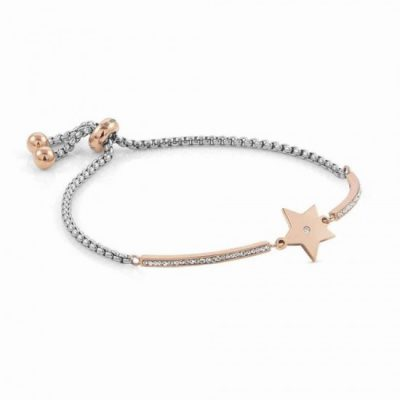 Milleluci Rose Gold Finish Pavé Star Toggle Half Bangle Stanley Hunt Jewellers 028005/023