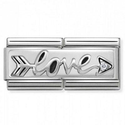 Silvershine Double Link Arrow of Love Charm Stanley Hunt Jewellers - 330730/02