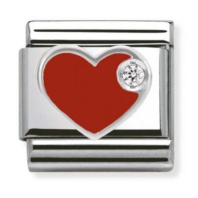 Silvershine Red Love Heart Charm Stanley Hunt Jewellers - 330305/01