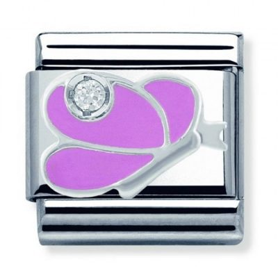 Silvershine Pink Butterfly Charm Stanley Hunt Jewellers - 330305/07
