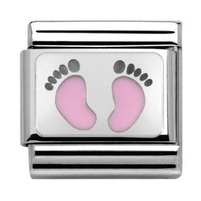 Silvershine My Family Pink Baby Feet Charm Stanley Hunt Jewellers - 330208/14