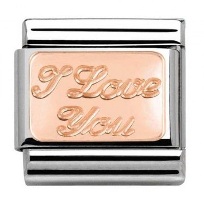 Rose Gold Plates I Love You Charm Stanley Hunt Jewellers - 430101/30