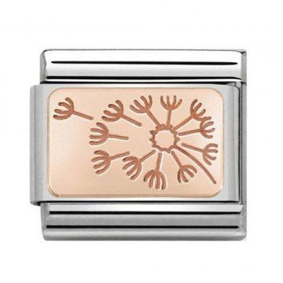 Rose Gold Dandelion Clock Charm - 430101/48