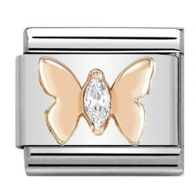 Rose Gold Butterfly With Stones Charm Stanley Hunt Jewellers - 430305/19