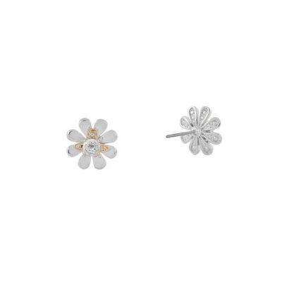 Daisy Flower Stud Earrings Stanley Hunt Jewellers - 62010257-02W344-CN