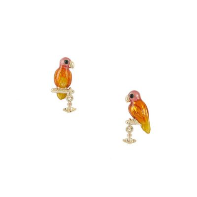 Gold Alicia Parrot Earrings Stanley Hunt Jewellers - 62010259-02R360-CN