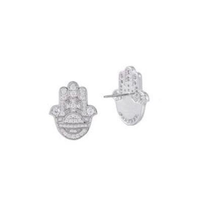 Rojava Hand Earrings - 62010254-02W106-SM