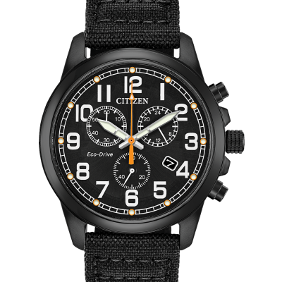 Citizen Military Eco-Drive Black Strap AT0205-01EZ Stanley Hunt Jewellers