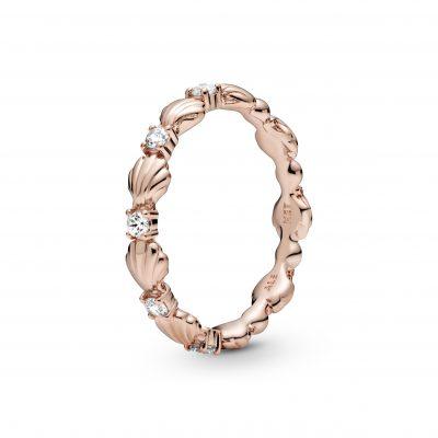 Rose Sparkling Seashell Ring - 188946C01