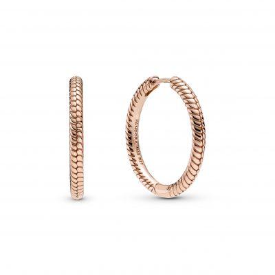 Rose Charm Hoop Earrings - 289532C00