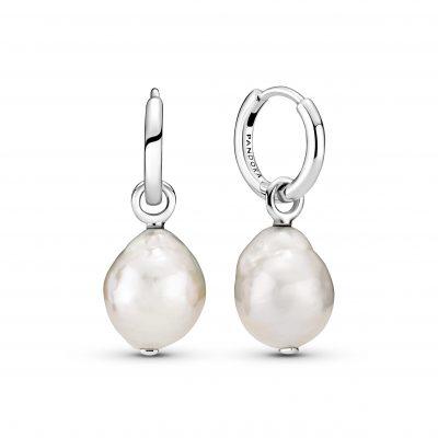 Freshwater Cultured Baroque Pearl Hoop Earrings - 299426C01