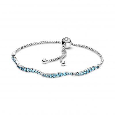Blue Wavy Slider Bracelet - 599436C01