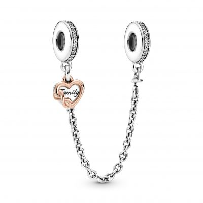 Family Heart Safety Chain Charm - 789541C01