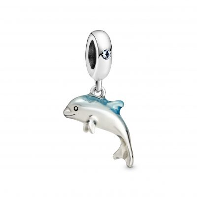 Shimmering Dolphin Dangle Charm - 798947C01
