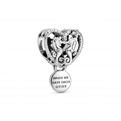 Openwork Seahorses Heart Charm - 798949C00