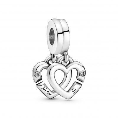 Linked Sister Hearts Split Dangle Charm - 799538C01