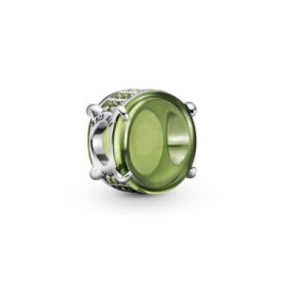 PANDORA COLOURS Green Oval Cabochon Charm - 799309C02