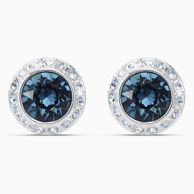 angelic-stud-pierced-earrings--blue--rhodium-plated-swarovski-5536770
