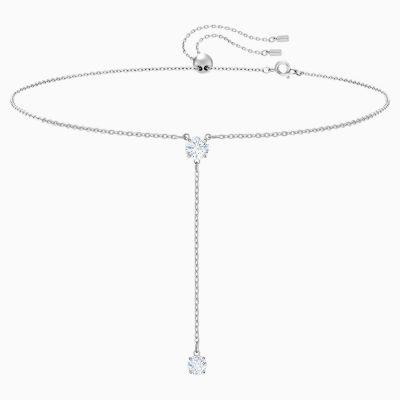 attract-y-necklace--white--rhodium-plated-swarovski-5367969