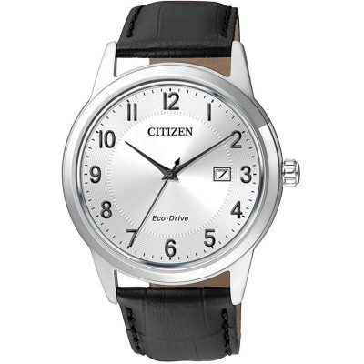 Mens Citizen Eco-drive Dress Stainless Steel Watch - AW1231-07A