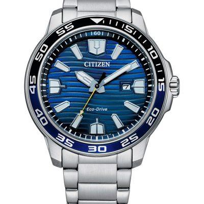Emerald blue Eco-Drive Men's Watch - AW1525-81L