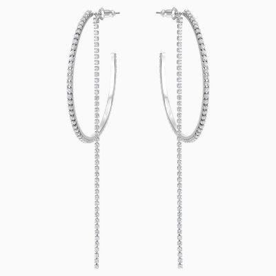 fit-hoop-pierced-earrings--white--stainless-steel-swarovski-5504570