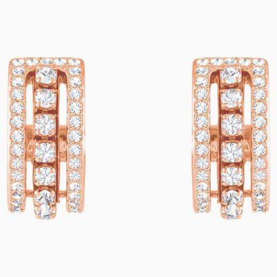 further-pierced-earrings--white--rose-gold-tone-plated-swarovski-5419852