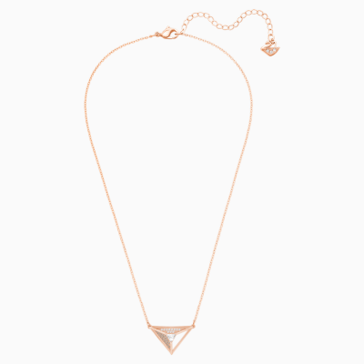 hillock-triangle-pendant--white--rose-gold-plating-swarovski-5345297