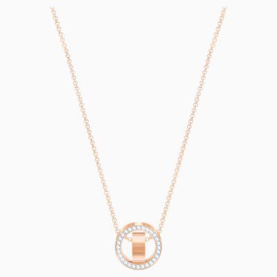 hollow-pendant--white--rose-gold-tone-plated-swarovski-5289495