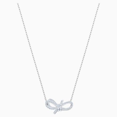lifelong-bow-necklace--white--rhodium-plated-swarovski-5440643