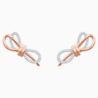 lifelong-bow-pierced-earrings--white--mixed-metal-finish-swarovski-5447089