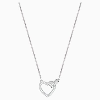 lovely-necklace--white--rhodium-plated-swarovski-5380703