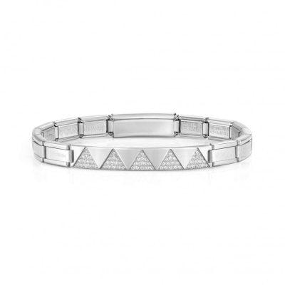Trendsetter New York Steel White Zirconia Triangles Bracelet - 021140/001