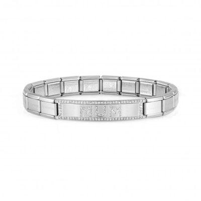 Trendsetter New York Steel CZ Mum Bracelet - 021139/016