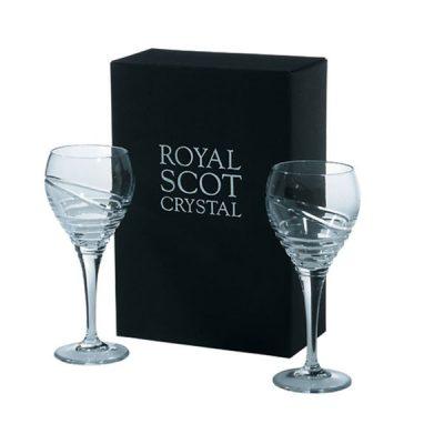 Saturn - 2 Crystal Wine Glasses