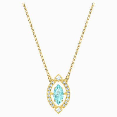 swarovski-sparkling-dance-necklace--green--gold-tone-plated-swarovski-5497474