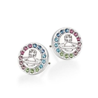 Vivienne Westwood Claretta Multi-colour Crystal Stud Earrings Stanley Hunt Jewellers - 62010224-W304-CN