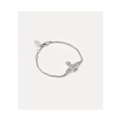 Mini Bas Relief Rhodium Bracelet - 61020051-W110-CN